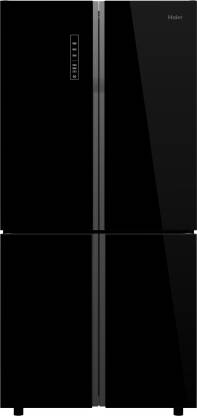 Haier 712 L Frost Free Side by Side (2020) Refrigerator  (Black Glass, HRB-738BG)