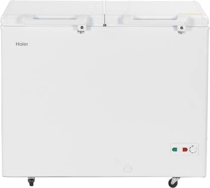Haier 319 L Double Door Standard Deep Freezer (White, HCC-345HCDD)