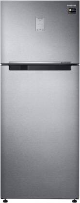 Samsung 465 L Frost Free Double Door 3 Star (2019) Refrigerator (EZ Clean Steel, RT47M623ESL/TL)