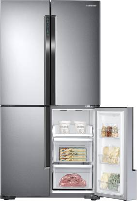 Samsung 693 L Frost Free French Door Bottom Mount Refrigerator  (Easy Clean Steel, RF60J9090SL/TL)