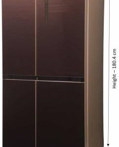 Haier 531 L Frost Free Side by Side Inverter Technology Star (2020) Convertible Refrigerator  (Chocolate, HRB-550CG)