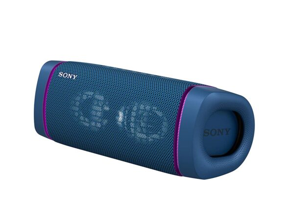 Sony SRS-XB33 Wireless Extra Bass Bluetooth Speaker with 24 Hours Battery Life, Party Lights, Party Connect, Waterproof, Dustproof, Rustproof, Speaker with...