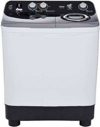 Haier 8.5 kg Semi Automatic Top Load Black, White, Grey  (HTW85-186S)