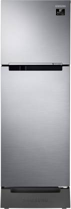 Samsung 253 L Frost Free Double Door 2 Star (2020) Refrigerator with Base Drawer  (Refined Inox(Matt DOI Metal), RT28T3122S9/HL)