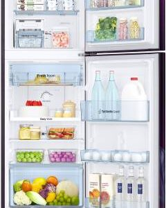 Samsung 253 L Frost Free Double Door 2 Star (2020) Refrigerator with Base Drawer  (Paradise Purple, RT28T31429R/HL)