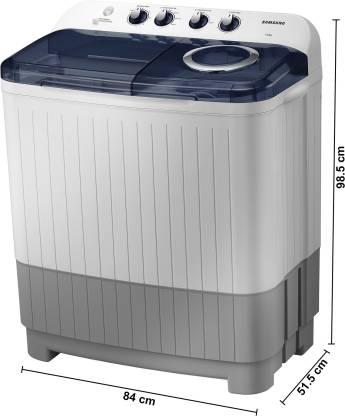 Samsung 7.5 kg Semi Automatic Top Load White, Blue, Grey  (WT75M3200HB/TL)