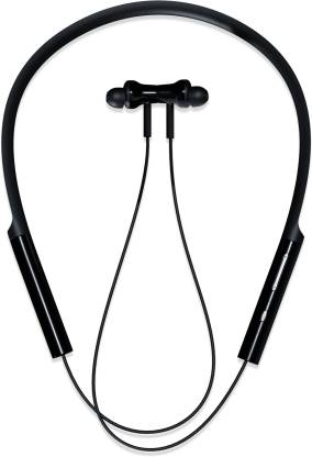 Mi Neckband Bluetooth Headset  (Black, In the Ear)