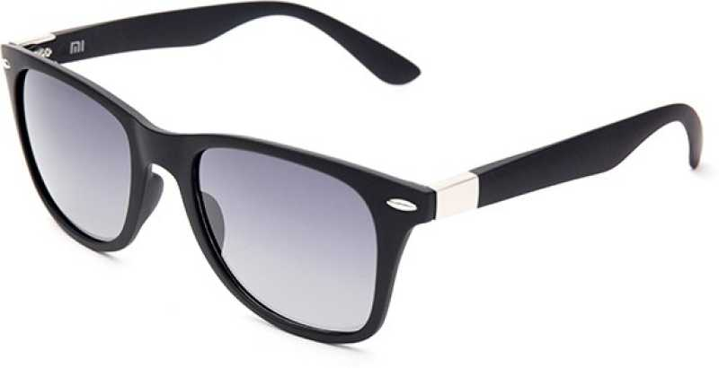 Polarized Wayfarer Sunglasses (Free Size)  (Blue)