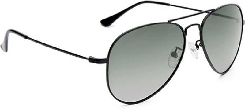Polarized Aviator Sunglasses (Free Size)  (Green)