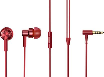 Redmi by Mi Hi-Resolution Audio Wired Headset  (Red, In the Ear)