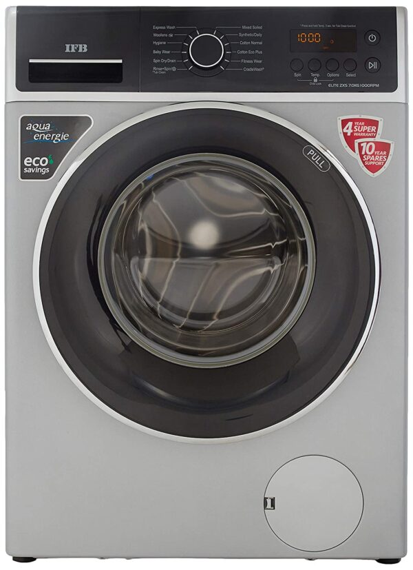 IFB 7 Kg Fully-Automatic Front Loading Washing Machine (ELITE ZXS, Silver)