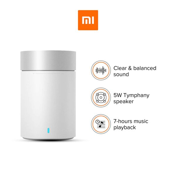 Mi Pocket 2 Bluetooth with Full Bass, Clear Treble,5W Speaker up to 7 hr Battery Life Speakers (White)