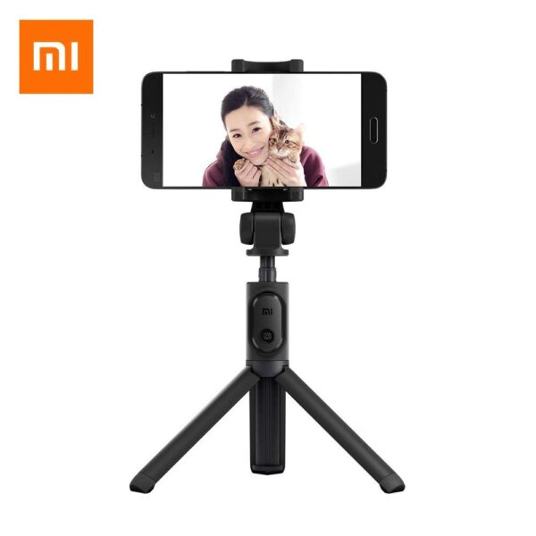 Original Xiaomi Selfie Stick , Foldable Tripod Selfie Stick Bluetooth Remote Control Selfiestick With Wireless Shutter for iPhone / Xiaomi / Huawei / Asus IOS Android Phone (black)