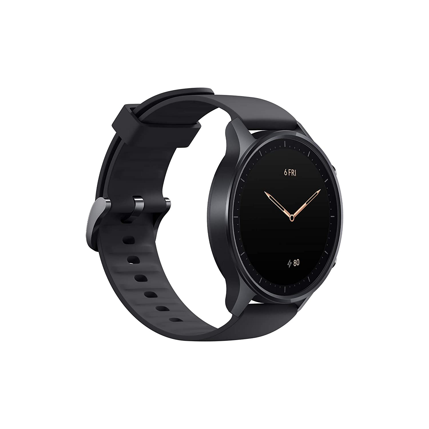 Mi Watch Revolve,1.39â? AMOLED Screen,5ATM Water Resistant,VO2 Max,First Beat Motion Algorithm,Stress & Sleep Management, Midnight Black