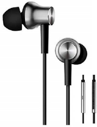 mi Earphones with Mic (Silver) Wired Headset  (Silver, In the Ear)