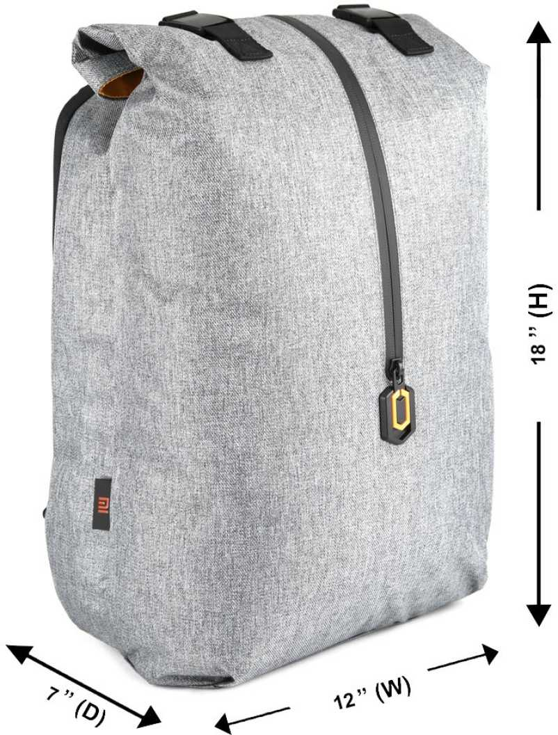 Small 18 L Laptop Backpack Travel  (Grey)