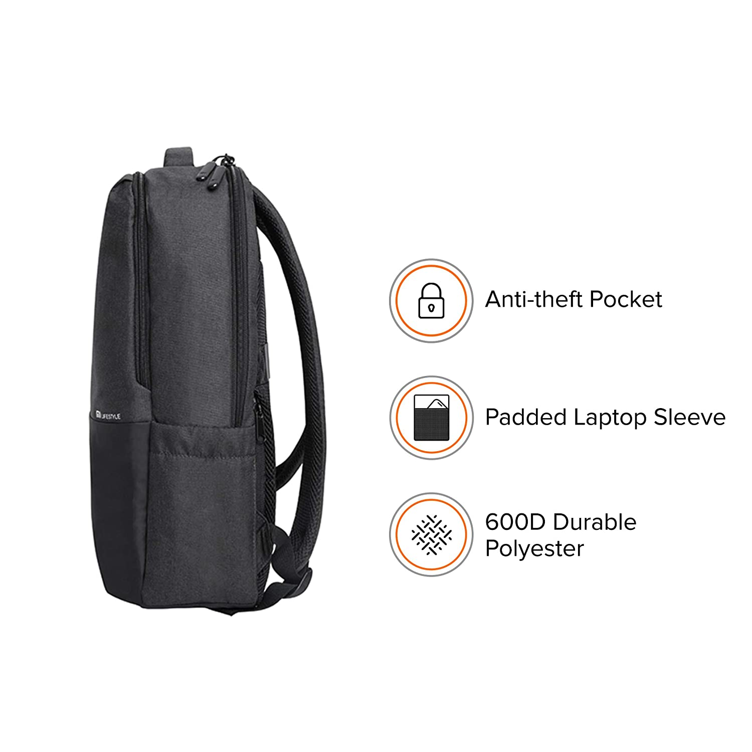 Mi Business Casual 21L Water Resistant Laptop Backpack (Dark Grey)