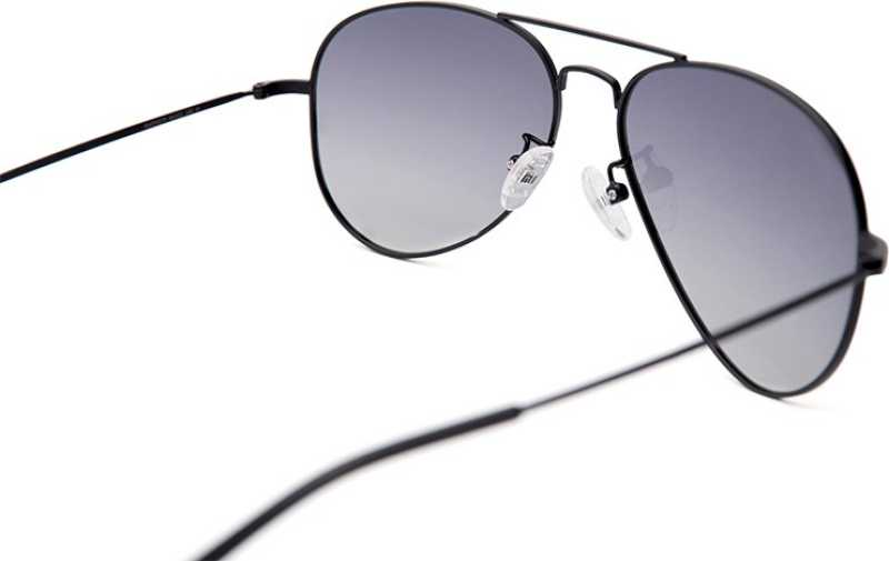 Polarized Aviator Sunglasses (Free Size)  (Blue)