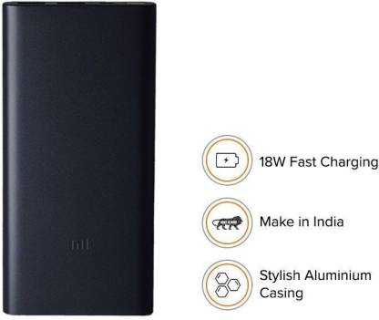 Mi 2i 10000 mAh Power Bank (Fast Charging, 18W)  (Black, Lithium Polymer)