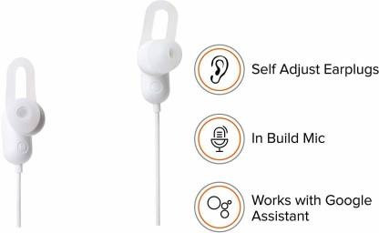 Mi Sports Bluetooth Wireless Earphones with Mic (White) Bluetooth Headset  (White, On the Ear)