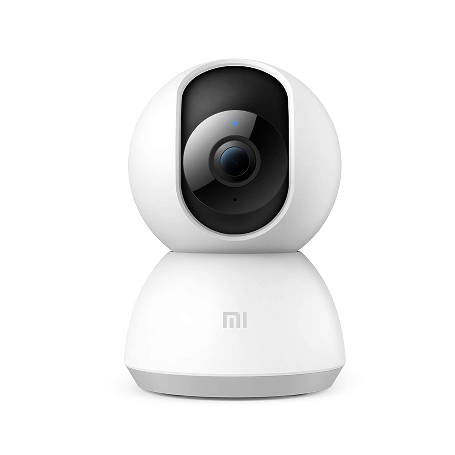 MI Full HD WiFi 1080p 360° Viewing Area with Intruder Alert, Night Vision, Two-Way Audio Inverted Installation Smart Security Camera (White)