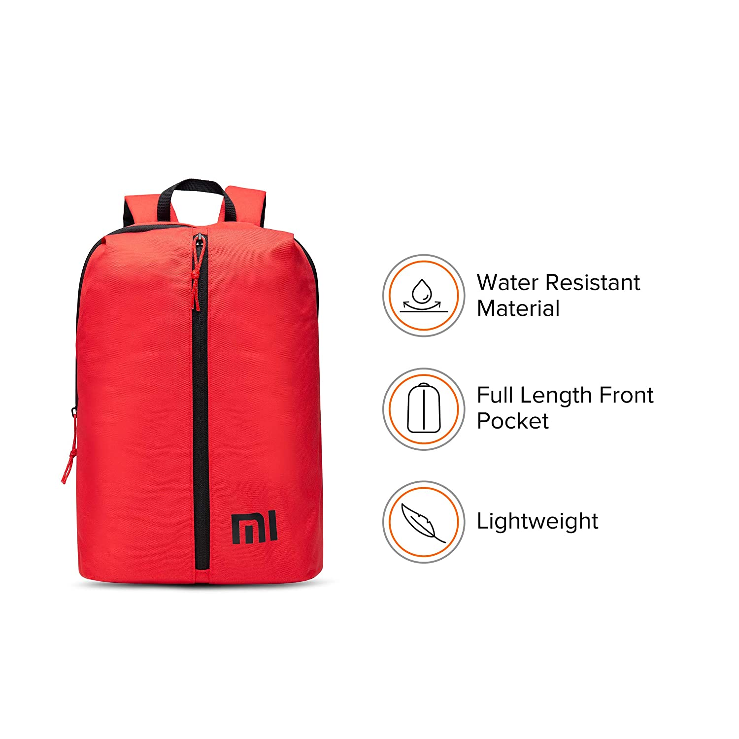 Mi Step Out 12 L Mini Backpack (Small Size, Red, Water Repellant)