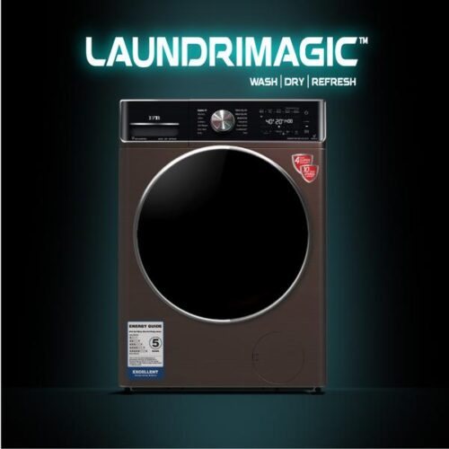 IFB Washer Dryer Executive ZXM 8.5/6.5kg 5 Star Inverter Fully-Automatic Front Loading Washing Machine | Mocha Color, Inbuilt Heater, Aqua Energie water softener) with WiFi