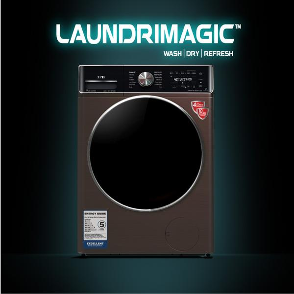 IFB Washer Dryer Executive ZXM 8.5/6.5kg 5 Star Inverter Fully-Automatic Front Loading Washing Machine   Mocha Color, Inbuilt Heater, Aqua Energie water softener) with WiFi