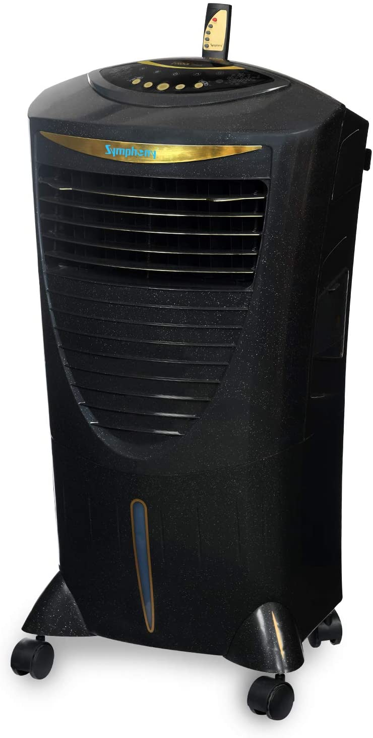 Symphony HiCool-i Modern Personal Room Air Cooler 31-litres, with Remote, Honeycomb Pad, Multi-Stage Air Purification, Automatic Vertical Swing & Low Power Consumption (Black)