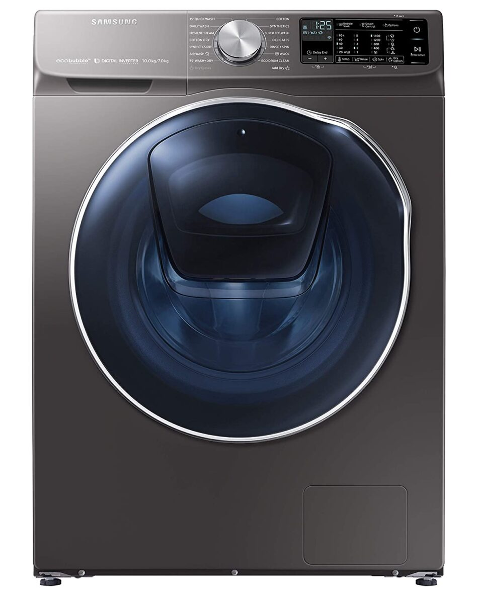 Samsung 10.0/7.0 kg Kg Inverter Fully-Automatic Washer Dryer (WD10N641R2X/TL, Silver)