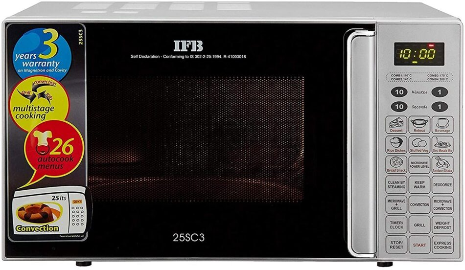 IFB 25 L Convection Microwave Oven (25SC3, Metallic Silver, With Starter Kit)