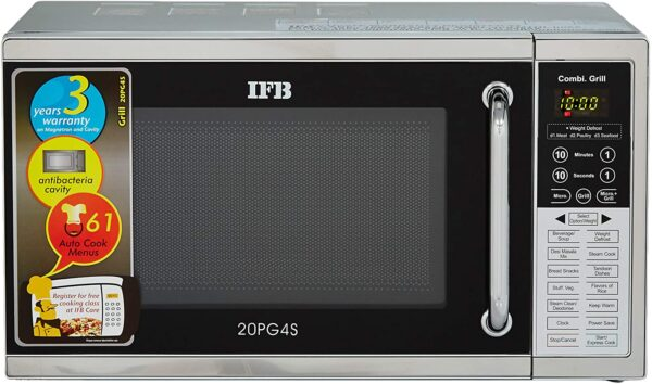 IFB 20 L Grill Microwave Oven (20PG4S, Black & Silver, With Starter Kit)
