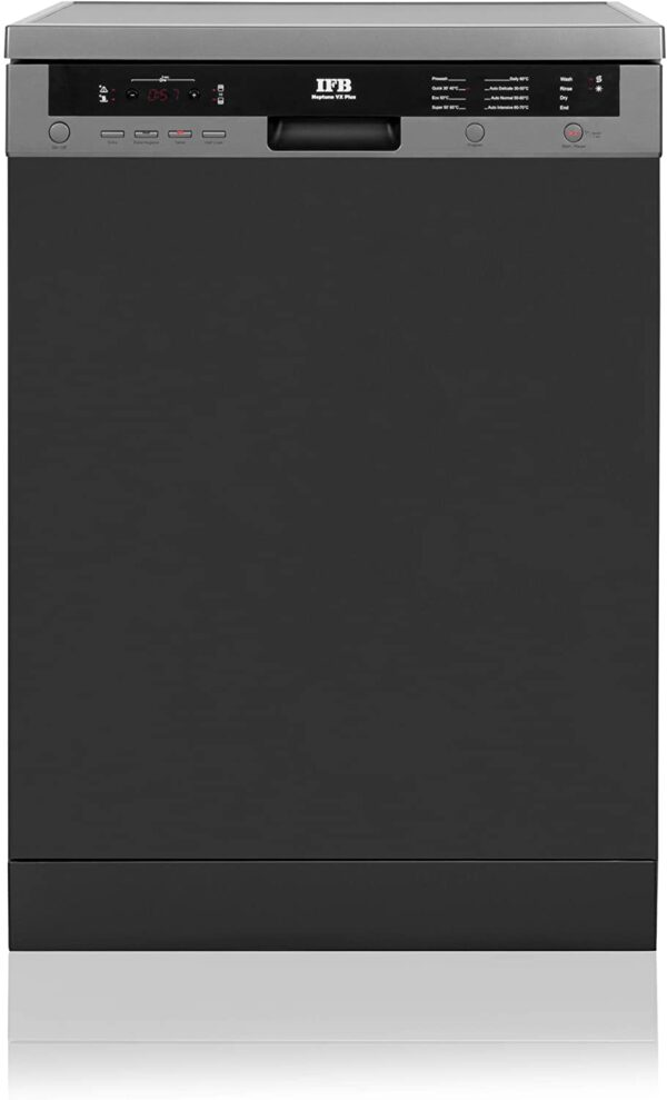 IFB Neptune 15 Place Settings Dishwasher (VX plus, Graphite Grey, Quick Wash with Steam Drying)