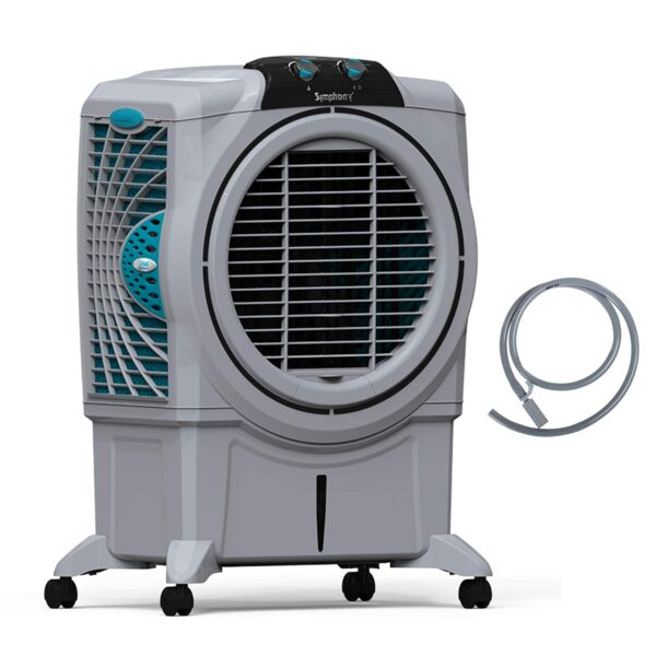 Symphony Sumo 115 XL Powerful Desert Air Cooler 115-litres, Air Fan, Easy-Fill, 3-Side Honeycomb Pads, i-Pure Console & Low Power Consumption (Grey)