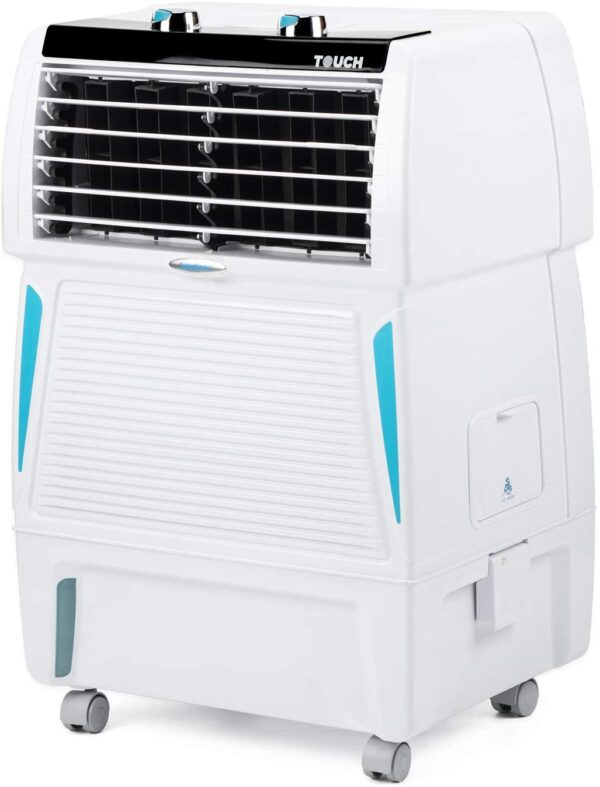 Symphony Touch 20 Personal Room Air Cooler 20-litres, Honeycomb Pad, Fully Closable Louvers, Removable Tank, Multistage Air Purification, Cool Flow Dispenser & Low Power Consumption (White)